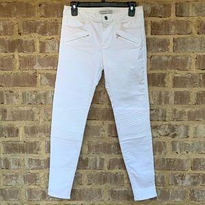 Zara Basic white Moto Z1975 denim SZ 6